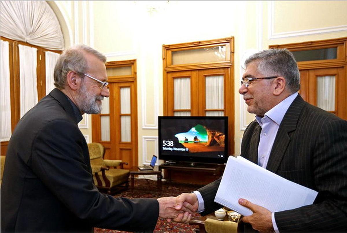 دیدار لاریجانی با رییس جهاد دانشگاهی