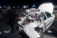 تصادف در زنجان دو کشته برجای گذاشت