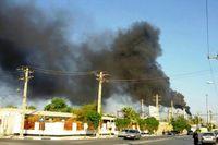 آتش سوزی در واحد ۵۵پالایشگاه آبادان مهار شد
