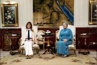 استقبال همسر السیسی از ملانیا ترامپ +تصاویر