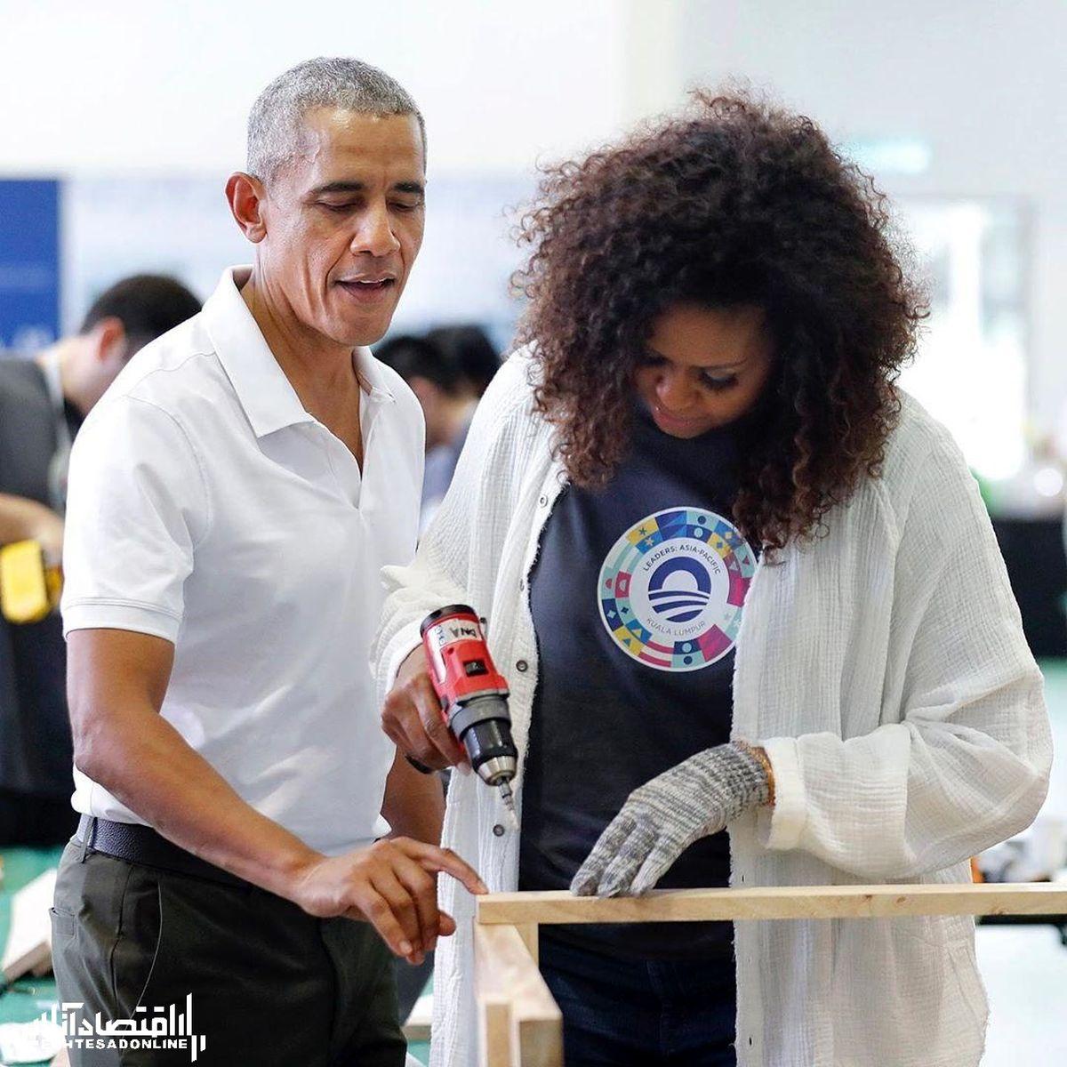 نجاری کردن میشل اوباما! +عکس