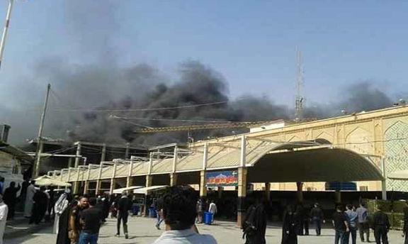هتل زائران ایرانی در نجف طعمه حریق شد