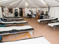 برپایی بیمارستان صحرایی ارتش آمریکا +فیلم