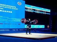 نخستین وزنه بردار زن ایران در رده دوازدهم آسیا