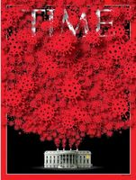 کرونا در کاخ سفید؛ روی جلد نشریه تایم