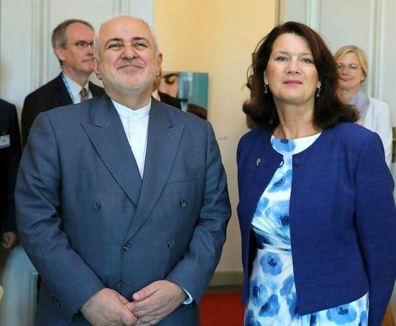 ظریف با وزیر تجارت سوئد دیدار کرد