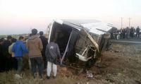 واژگونی مینی بوس در جنوب تهران