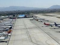 تصاویری از هواپیماهای پارک شده در فرودگاه مهرآباد