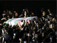 ورود پیکر سپهبد قاسم سلیمانی و همرزمان شهیدش به تهران +تصاویر