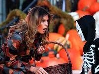 استقبال ملانیا ترامپ از مهمانان هالووین +تصاویر