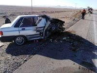 حادثه رانندگی در اتوبان ساوه ۲نفر را به کام مرگ کشاند