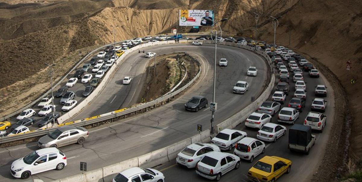 ترافیک سنگین در آزادراه تهران-شمال