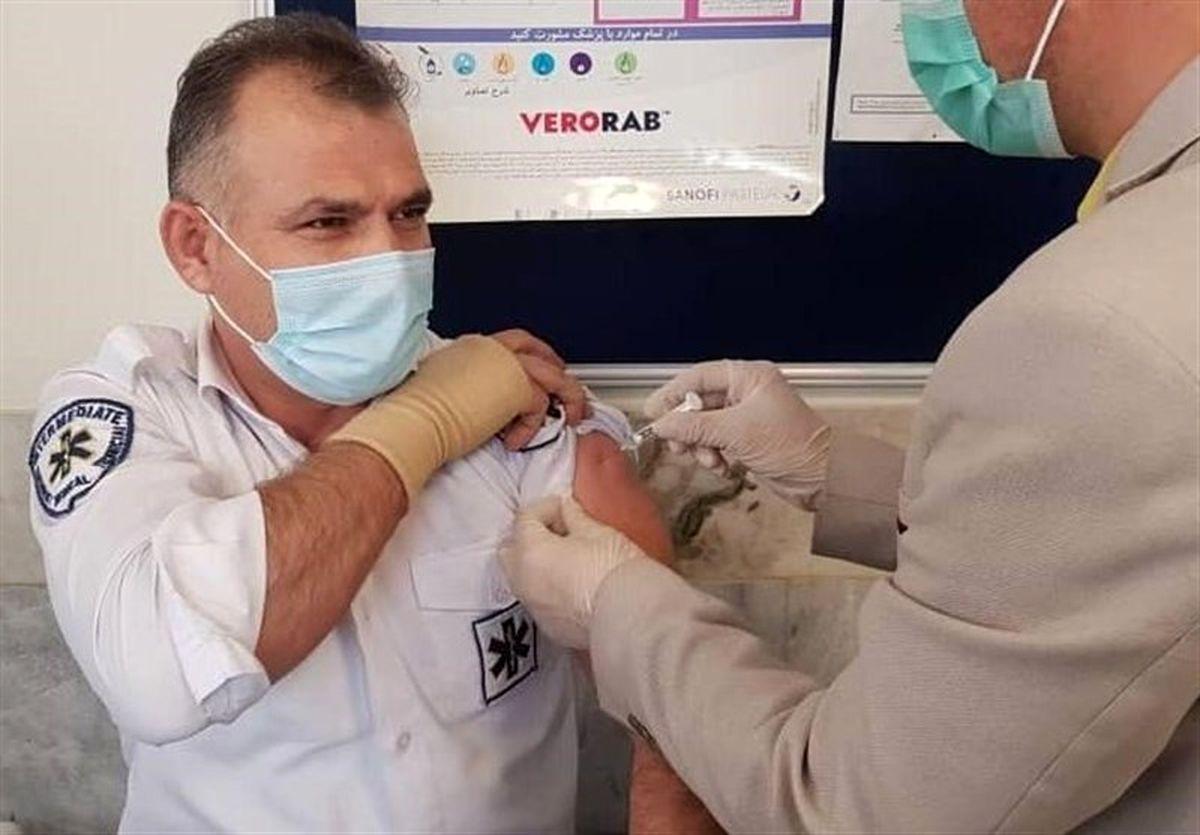 آغاز تزریق واکسن کرونا به نیروهای اورژانس تهران