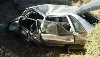 واژگونی خودرو یک کشته به جا گذاشت