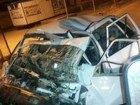 تصادف مرگبار اتوبوس با پراید +عکس