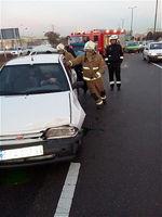 برخورد شدید ۴ دستگاه خودرو در جاده کرج +تصاویر