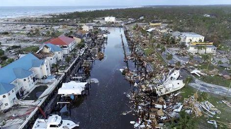 تصاویر هوایی از طوفان مایکل در فلوریدا