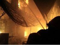 آتش سوزی در بازار تبریز