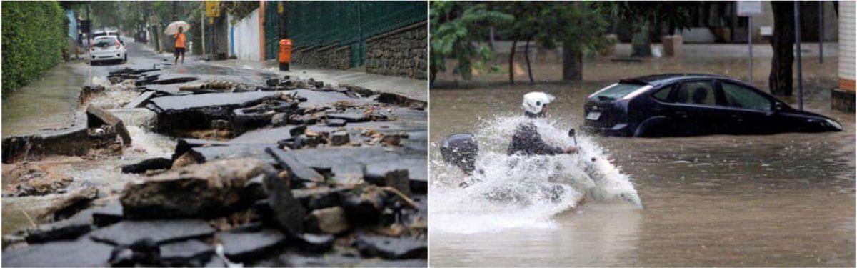 سیل مرگبار در برزیل +عکس