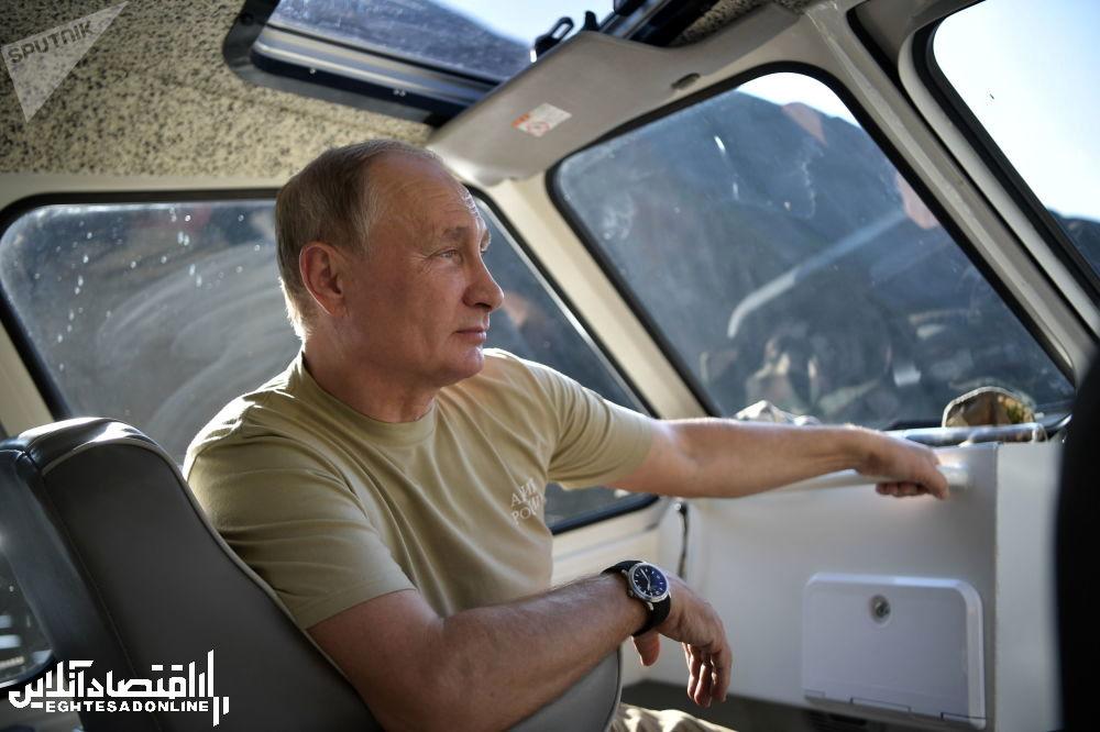 ولادیمیر پوتین، رئیس جمهور روسیه در تعطیلات - جمهوری تیوا