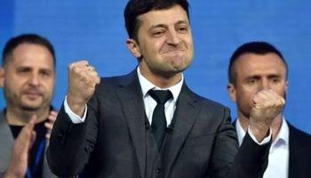 یک کمدین رییس جمهور اوکراین شد