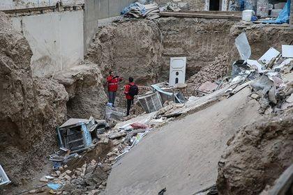 ریزش مرگبار ساختمان ۴ طبقه در تهران +تصاویر
