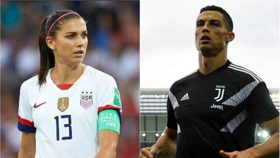 اظهارات تند فوتبالیست زن علیه رونالدو +عکس