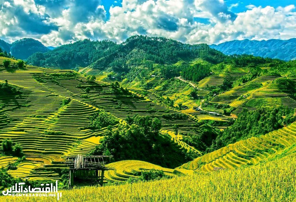 منظره کوهستانی ویتنام.