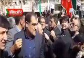 وزیر بهداشت زیر تابوت شهدای حادثه تروریستی را گرفت +فیلم