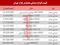 مظنه انواع صندلی ماساژ در بازار تهران؟ +جدول