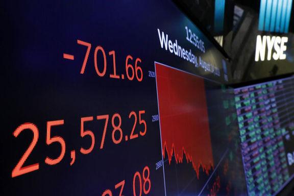 افت بازار سهام آمریکا با منفی شدن قیمت نفت