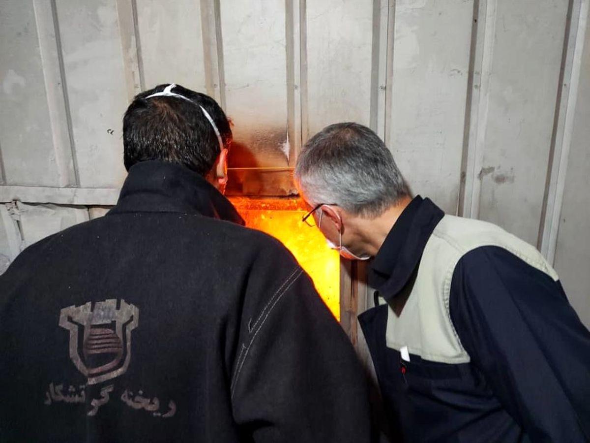 بازدید مدیر عامل شرکت ذوب آهن اصفهان از روند تولید و تعمیرات کارخانه