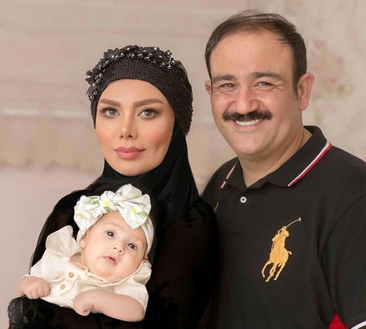 عاشقانه مهران غفوریان برای همسر و دخترش + عکس