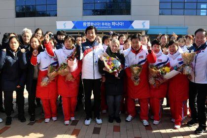 اعزام ورزشکاران کره شمالی به کره جنوبی +تصاویر