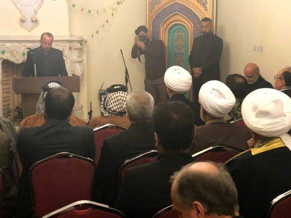 مراسم بزرگداشت سردار سلیمانی در سفارت ایران در بغداد +عکس