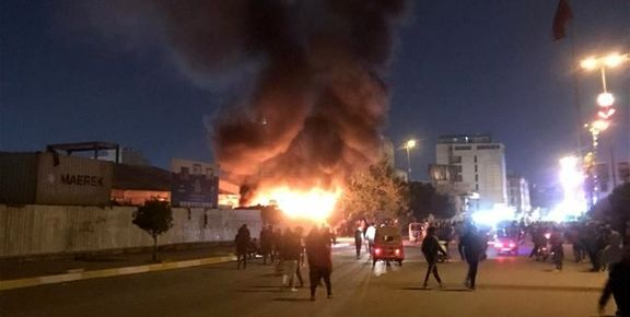 آتش زدن مقر 2حزب در استان کربلا