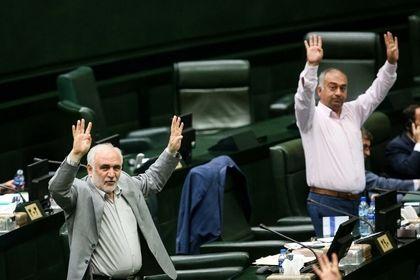 تصاویر دیدنی از حواشی مجلس در روز حضور وزیر ورزش