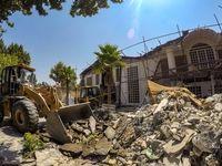 تخریب باغ تالار غیرمجاز 30هزار مترى +تصاویر
