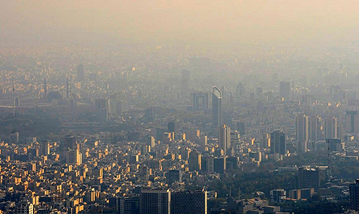 هشدار نارنجی هواشناسی درباره آلودگی هوای تهران