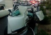 تصادف مرگبار وانتپیکان با تابلومسیرنما +عکس