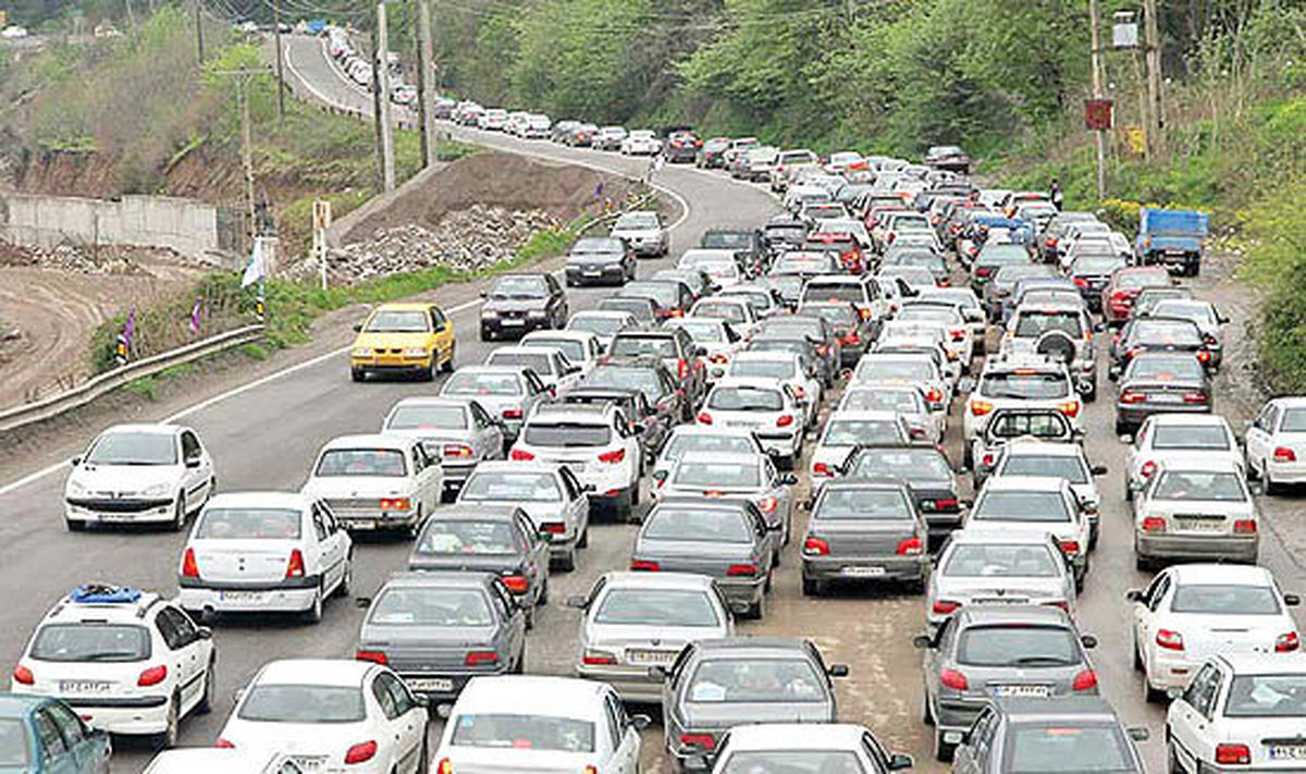 ترافیک سنگین بین کرج و قزوین