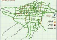 آخرین وضعیت ترافیک تهران +نقشه