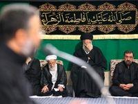 سومین شب عزاداری فاطمیه با حضور رهبر انقلاب +تصاویر