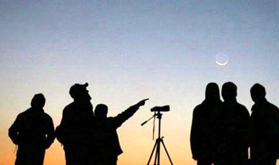 امکان مشاهده هلال ماه با درخشندگی زیاد در شامگاه امشب