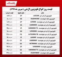 تلویزیون ال جی چند؟ (۲۲شهریور ۹۹)