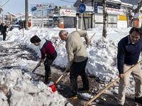 بحران مدیریت بعد از بارش برف در رشت +تصاویر