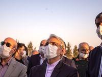 بازدید نوبخت و اسلامی از آزادراه شرق اصفهان +تصاویر
