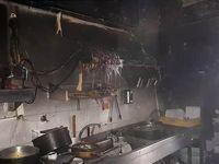 آشپزخانه یک رستوران در تهران در آتش سوخت +تصاویر
