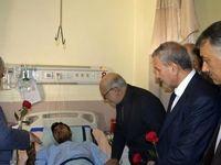 عیادت وزیر کار و وزیر صنعت از مصدومان انفجار معدن آزادشهر +تصاویر