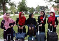 دختران تیم افغانستان در مسابقات روبتیک جهان +عکس